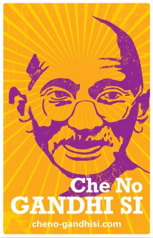 Che No, Gandhi Si poster